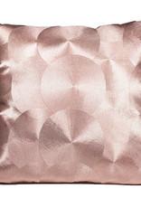 Luxe roze metallic sierkussen met reliëf