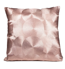 Pink metallic cushion