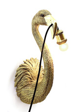 Gold flamingo wall light