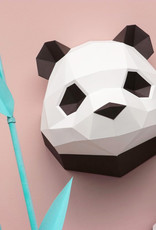 Paper baby panda trophy wall decoration