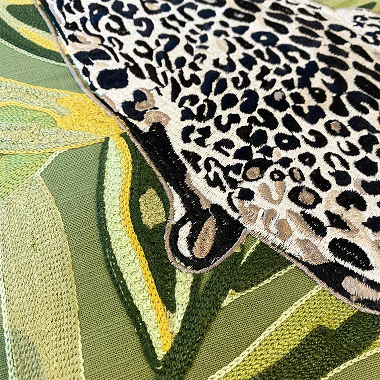 Luxury sofa cushion with leopard