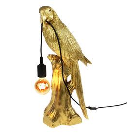 Gouden papegaai lamp