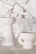 "Large modern paper pulp vase ""Earth"""