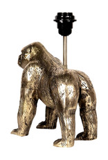Gouden tafellamp in de vorm van een gorilla