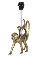 Gold table lamp with monkeys