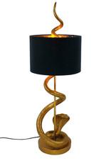 Gold snake table lamp