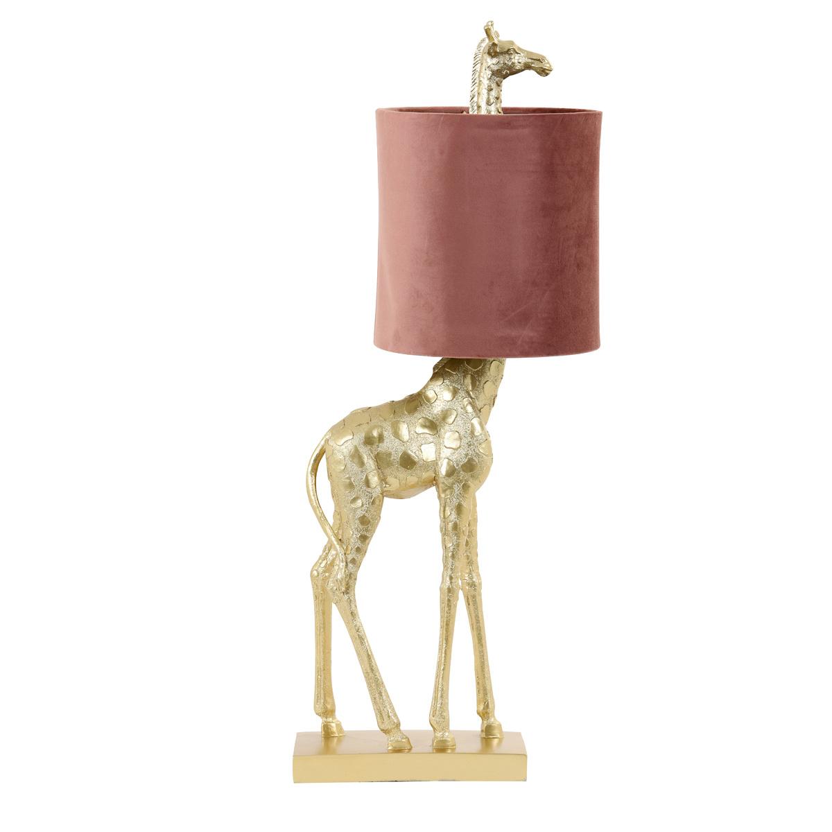 Gouden giraffe tafellamp