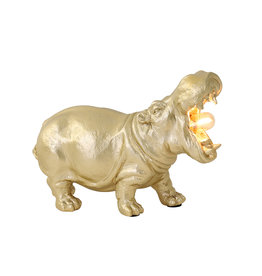 Hippo lamp / Gold / S