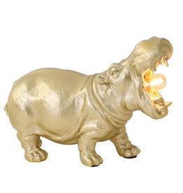 Hippo lamp / Gold / L