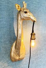 Gold giraffe wall light