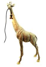 Gold giraffe floor or table lamp