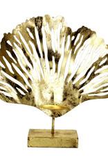 Gold coral tealight holder