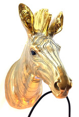 Gold zebra head throphy wall light