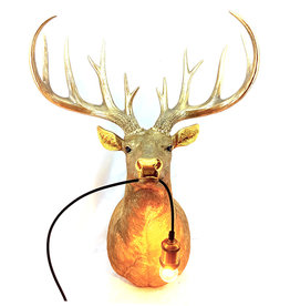 XL Deer wall light
