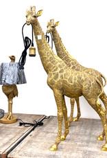 Gouden giraffe vloerlamp of tafellamp