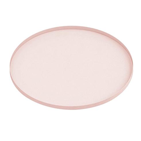 Pastel pink metal serving tray