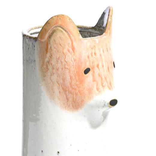 Vaas van keramiek in de vorm van een vos