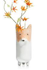 Ceramic fox flower vase