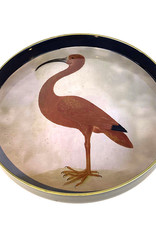 Serving tray with pink ibis bird