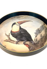 Serving tray with toucan bird
