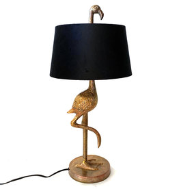 Flamingo lamp with shade