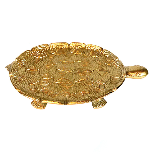 Gold metal turtle tray