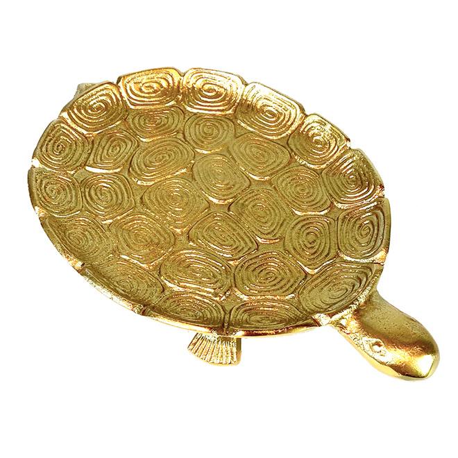 Goud metalen schildpad schaal