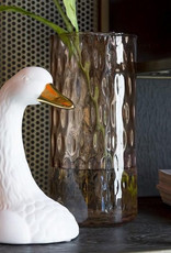 White ceramic swan vase