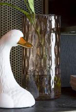 Witte zwaan vaas van keramiek