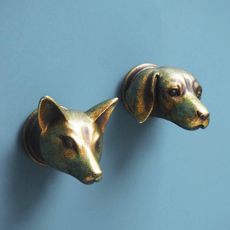 Gouden hond wanddecoratie