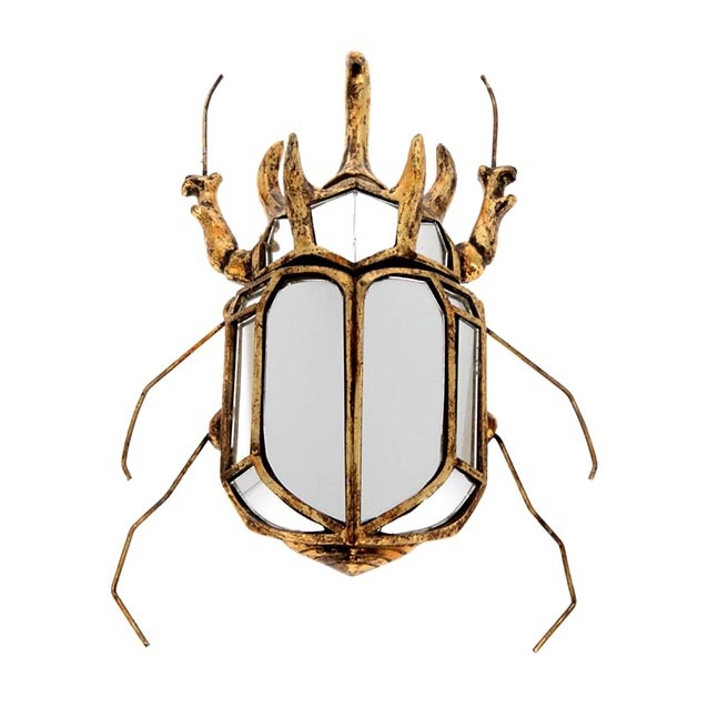 Gold scarab mirror