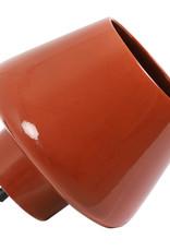 Design tafellamp van steenrood keramiek