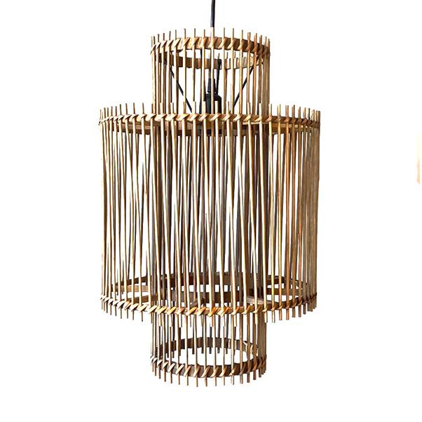 Scandinavisch design rotan houten hanglamp