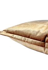 Gold rectangular velvet sofa cushion