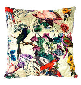 Cushion / birds and plants