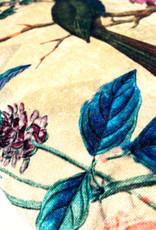 Fluweel sierkussen met vogels en planten