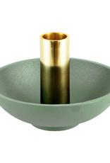 """Modern design mint green candlestick """"Disc"""""""