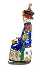 Ceramic Chinese emperor figure