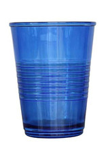 Set of 4 blue drinking glasses