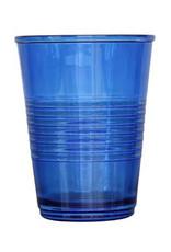 Set van 4 blauwe glazen