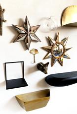"""Zwart metaal design wandplank """"Rock"""""""