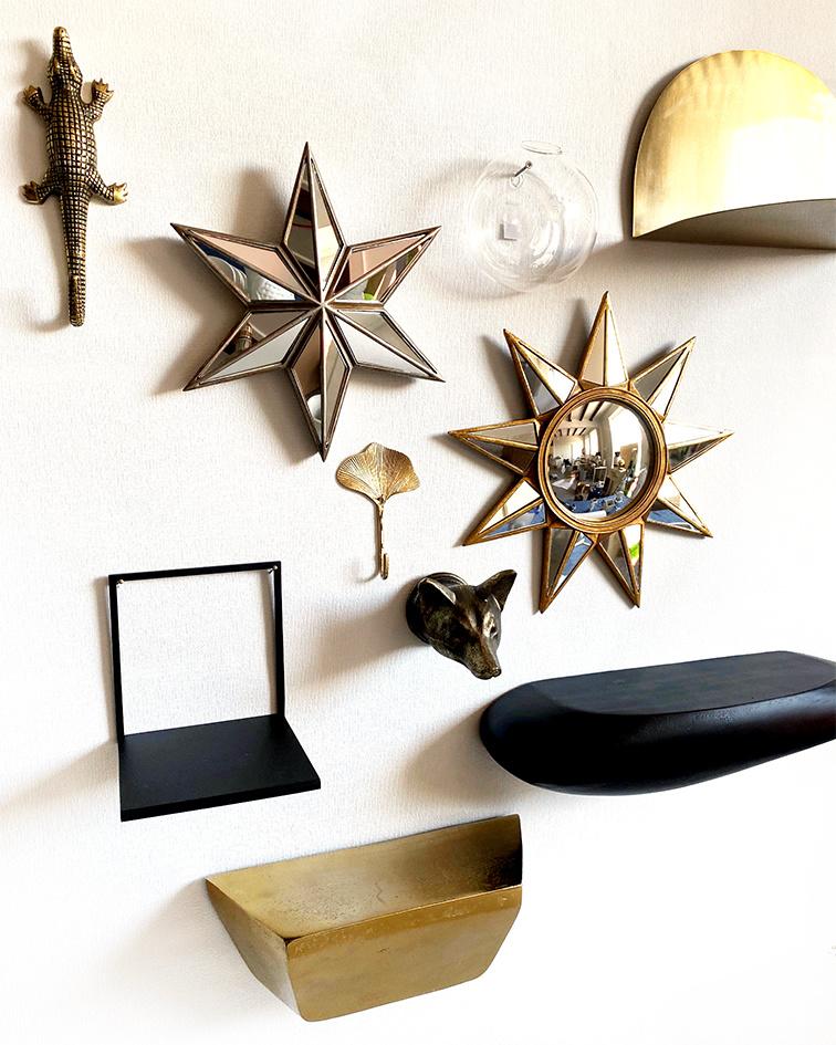 Star mirror wall decor
