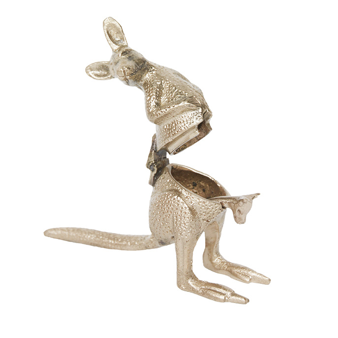 Goud kangoeroe suikerpotje