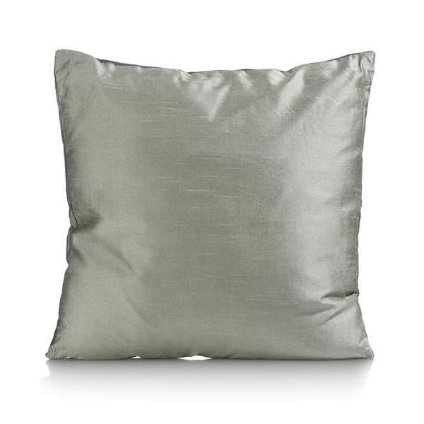 Velvet sofa cushion with gold birds print