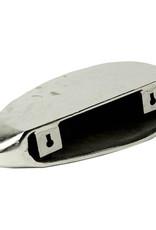 """Zilver metaal design wandplank """"Rock"""""""