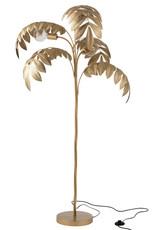 Gold palm tree floor lamp