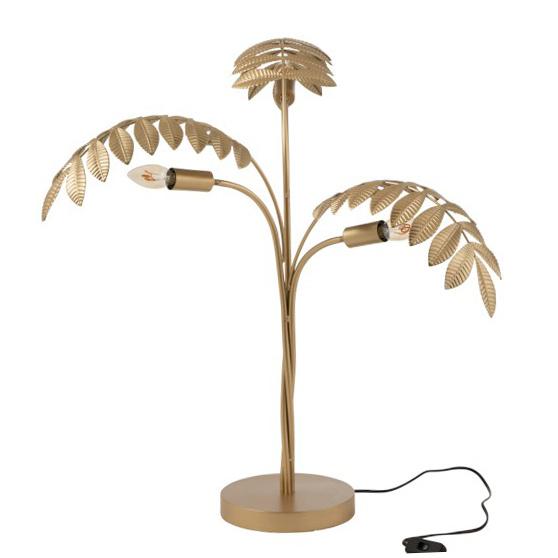 Gouden palmboom tafellamp