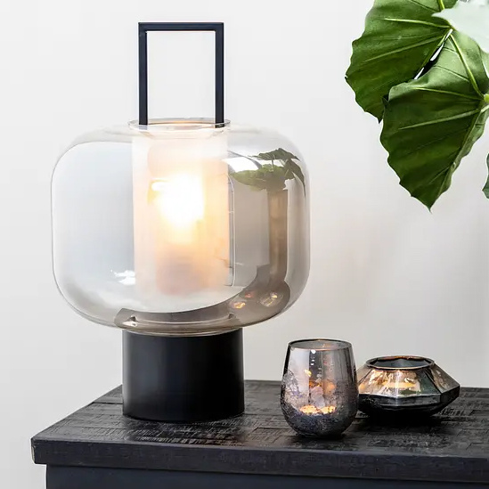 "Moderne zwarte tafellamp ""Iga"""