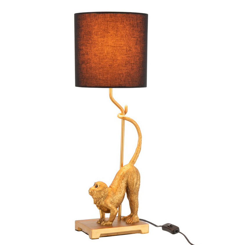 Gold monkey table lamp