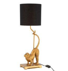 Gold monkey lamp